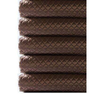 Silk Charmeuse Diamond Coverlet Color: Chocolate