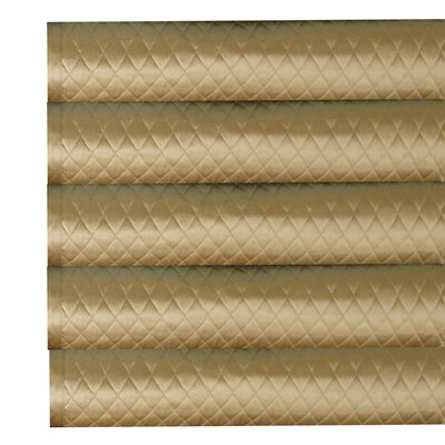 Silk Charmeuse Diamond Coverlet Color: Dark Beige