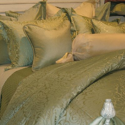 Silk Charmeuse Diamond Coverlet Color: Celadon Green