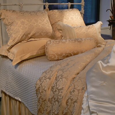 Silk Charmeuse Diamond Coverlet Color: Neutral