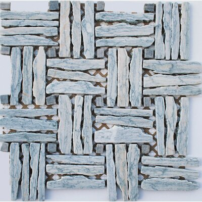 Landscape Wonder 1 x 4 Random Sized Stone Mosaic Tile in Gray/Light Blue