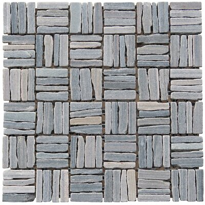 Landscape Wonder 12 x 12 Quartzite Alternate Natural Stone Mosaic Tile in Gray