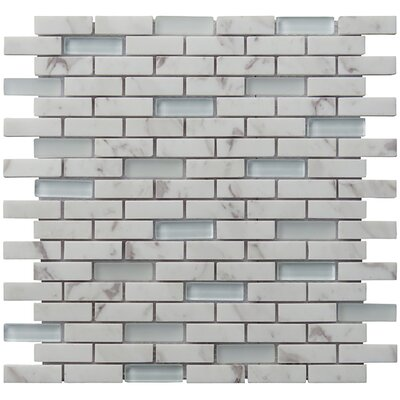 Tranquility 2 x 0.65 Natural Stone Mosaic Tile in White