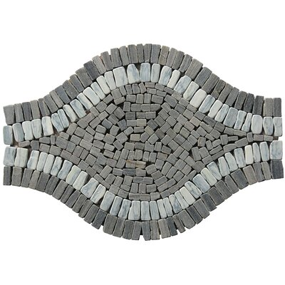 Landscape Wonder 17 x 12 Wavy Stone Blend Mosaic Tile in Gray