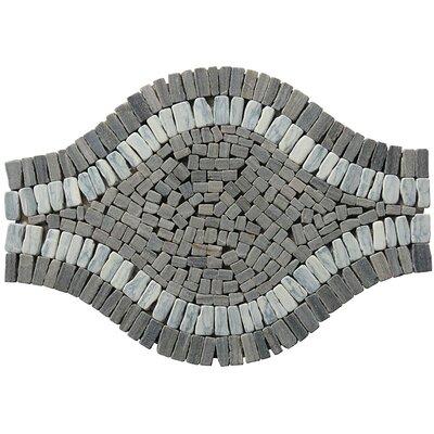 Landscape Wonder 17 x 12 Wavy Stone Blend Mosaic Tile in Gray
