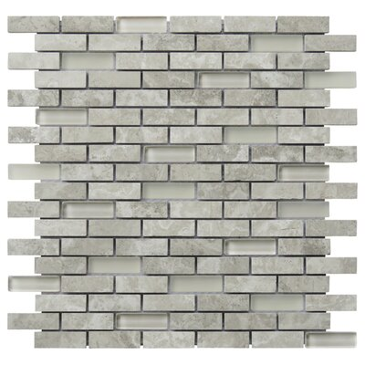 Tranquility 2 x 0.65 Natural Stone Mosaic Tile in Gray