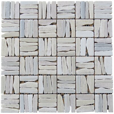 Landscape Wonder 12 x 12 Quartzite Alternate Natural Stone Mosaic Tile in White