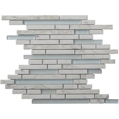 Eternity Random Sized Natural Stone Mosaic Tile in White