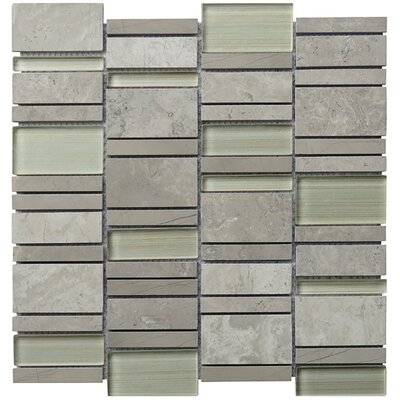 Random Sized Natural Stone Mosaic Tile in Gray