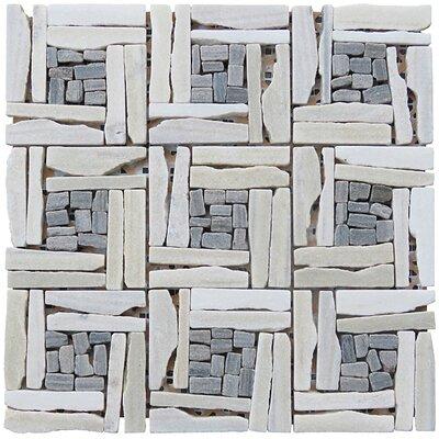 White basketweave tile backsplash
