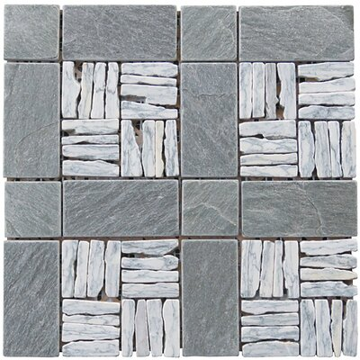 Landscape Wonder 12 x 12 Alternate Granite Blend Mosaic Tile in Gray and Black