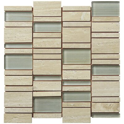 Random Sized Natural Stone Mosaic Tile in Tan