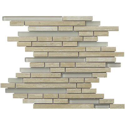 Eternity Random Sized Natural Stone Mosaic Tile in Tan