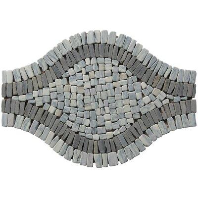 Landscape Wonder 17 x 12  Wavy Stone Blend Mosaic Tile in Two-tone Gray