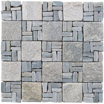 Landscape Wonder 2 x 2 Stone Mosaic Tile in Gray