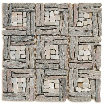 Landscape Wonder Random Sized Stone Mosaic Tile in Gray