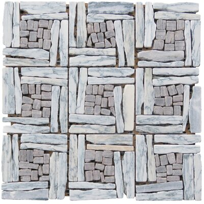 Landscape Wonder Random Sized Natural Stone and Granite Mosaic Tile in Gray