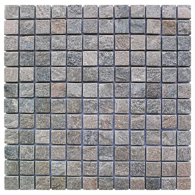 Landscape Wonder 1 x 1 Stone Mosaic Tile in Gray