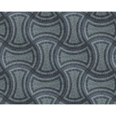 Landscape Wonder 17 x 24 Curvy Natural Stone Blend Mosaic Tile in Gray and Black