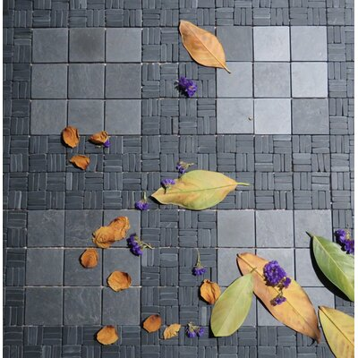 Landscape Wonder 12 x 12 Alternate Natural Stone Mosaic Tile in Black Slate