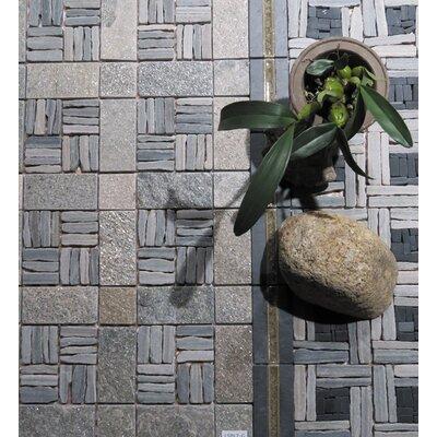 Landscape Wonder 12 x 12 Quartzite Alternate Natural Stone Blend Mosaic Tile in Two-tone Gray