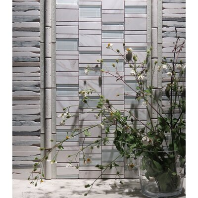 Random Sized Natural Stone Mosaic Tile in White