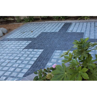 Landscape Wonder 12.5 x 12.5 Basketweave Natural Stone Mosaic Tile in Black and Gray