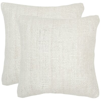 Emerystone Silk Throw Pillow Color: Bright White