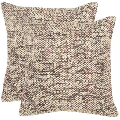 Emerystone Silk Throw Pillow Color: Burnt Brown