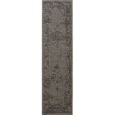 Censier Light Gray/Anthracite Area Rug Rug Size: 2 x 36