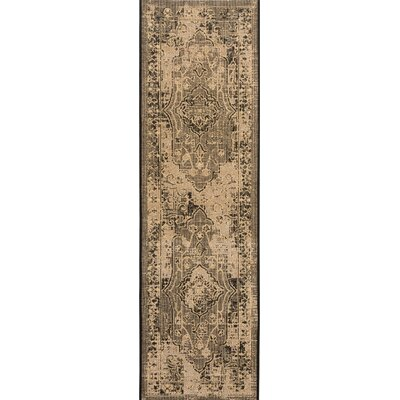 Dixon Black/Cream Area Rug Rug Size: Runner 2 x 73