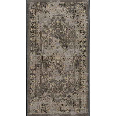 Dixon Black/Cream Area Rug Rug Size: Rectangle 2 x 36