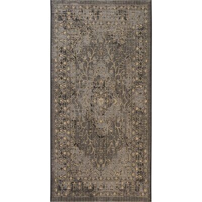 Dixon Black/Cream Area Rug Rug Size: Rectangle 26 x 5
