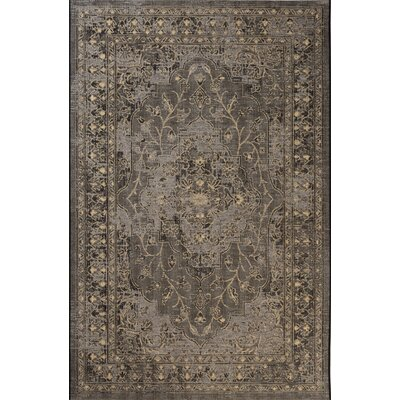 Dixon Black/Cream Area Rug Rug Size: 4 x 6