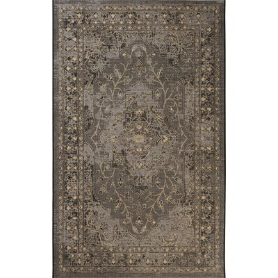 Dixon Black/Cream Area Rug Rug Size: Rectangle 5 x 8
