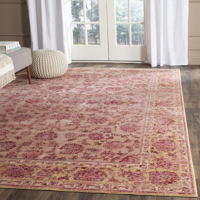 Valencia Pink Area Rug Rug Size: Rectangle 9 x 12