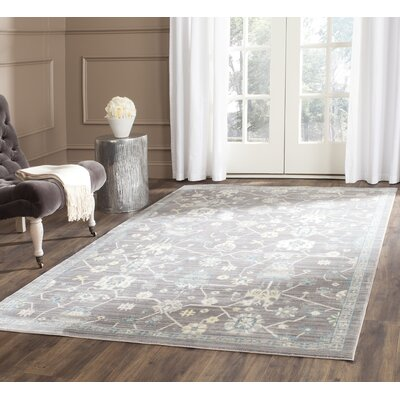 Croghan Gray Area Rug Rug Size: Rectangle 4' x 6'