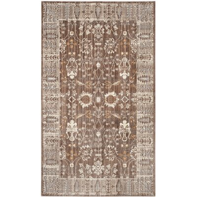Thanh Brown/Beige Indoor/Outdoor Area Rug