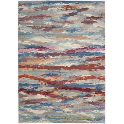 Doline Blue Area Rug Rug Size: Rectangle 4 x 6