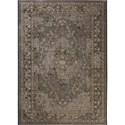 Dixon Black/Cream Area Rug Rug Size: 8 x 11