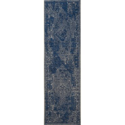 Dixon Light Gray/Anthracite Area Rug Rug Size: Runner 2 x 73