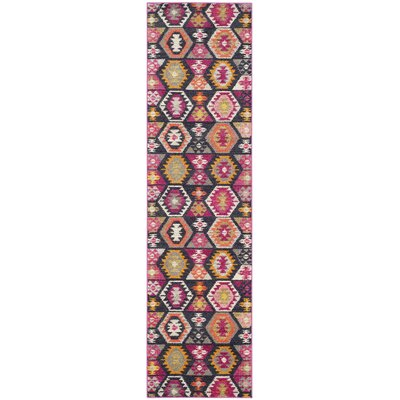 Haywood Yellow/Pink Area Rug Rug Size: Runner 22 x 8