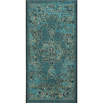 Censier Black & Cream Area Rug Rug Size: Runner 26 x 5