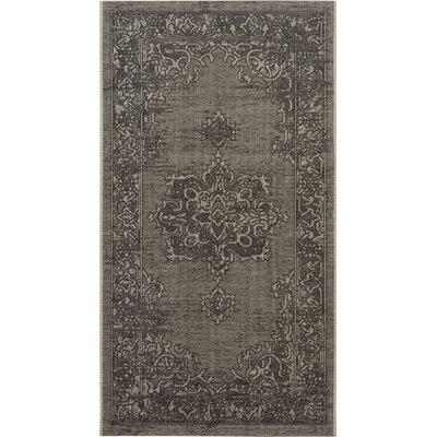 Dixon Light Gray/Anthracite Area Rug Rug Size: Rectangle 2 x 36