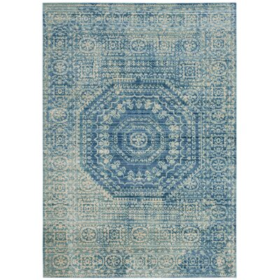 Thanh Blue Area Rug Rug Size: 2 x 3