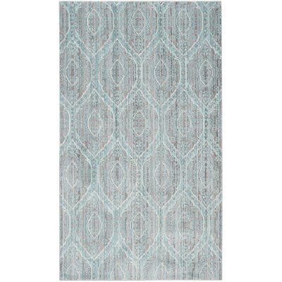 Longeville Gray/Baby Blue Area Rug Rug Size: Rectangle 3 x 5