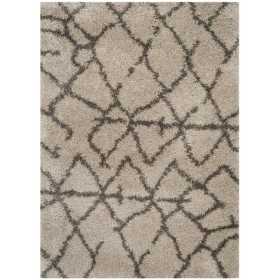 Messiah Taupe/Grey Area Rug Rug Size: 51 x 76