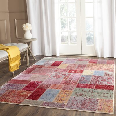 Thanh Red/Pink Area Rug Rug Size: Rectangle 5 x 8