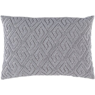 Janelle Down Lumbar Pillow Color: Gray/Gray
