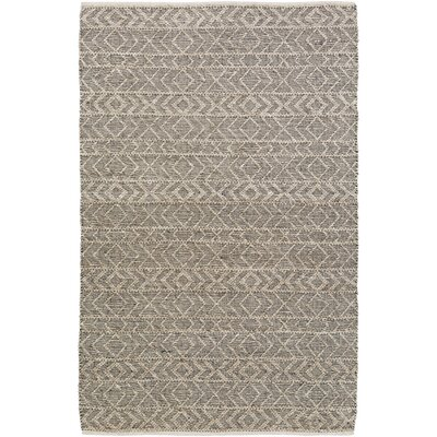 Glass Hand-Woven Gray Area Rug Rug Size: Rectangle 4 x 6
